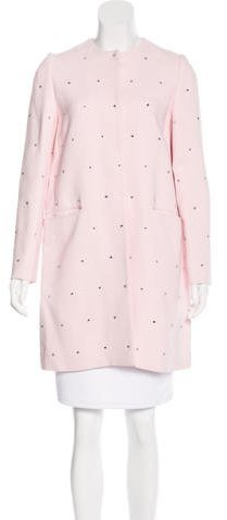 Miu Miu Miu Miu Embellished Knee-Length Coat