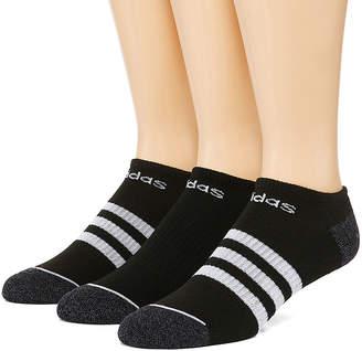 adidas Core Stripe 3 Pair No Show Socks-Mens