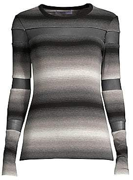 Bailey 44 Women's Striped Illusion Cutout Top