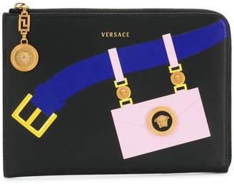 Versace printed belt clutch