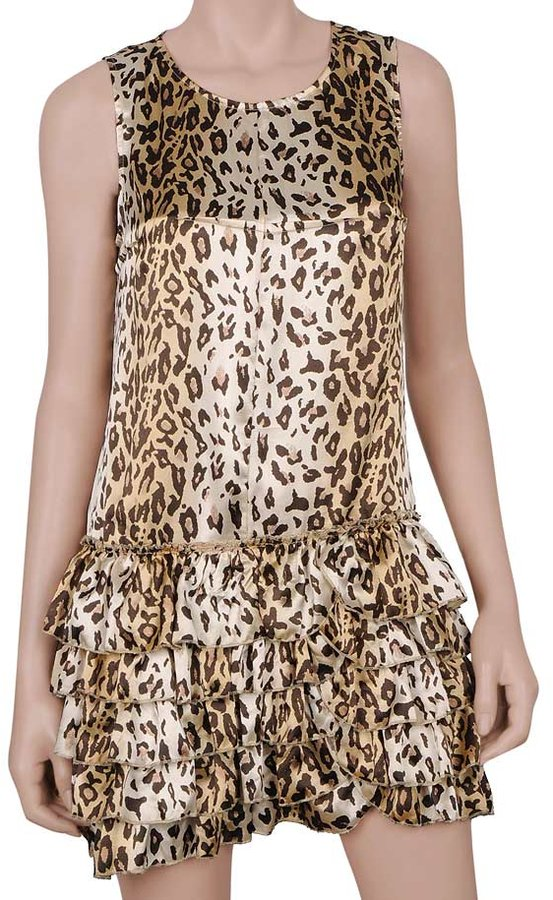 Leopard Ruffled Dress