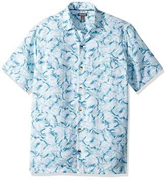 f3df9d24244 ... Van Heusen Men s Air Tropical Print Short Sleeve Button Down Shirt