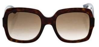 Gucci GG Havana Logo-Embellished Sunglasses