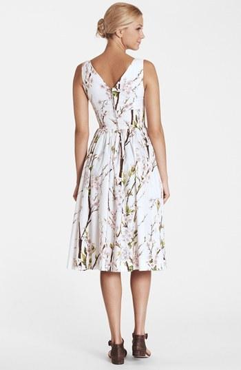 Dolce & Gabbana Print Fit & Flare Dress