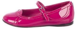 Gucci Girls' Patent Leather Mary Jane Flats