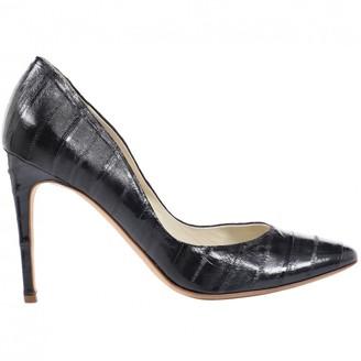 Rupert Sanderson Black Eel Heels