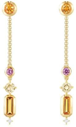 David Yurman Novella Gemstone & Diamond Drop Earrings