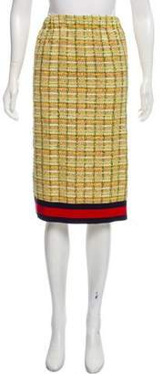 Gucci Knee-Length Tweed Skirt