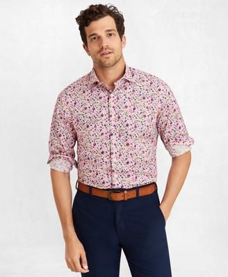 Brooks Brothers Golden Fleece Regent Fit Pink Floral Sport Shirt