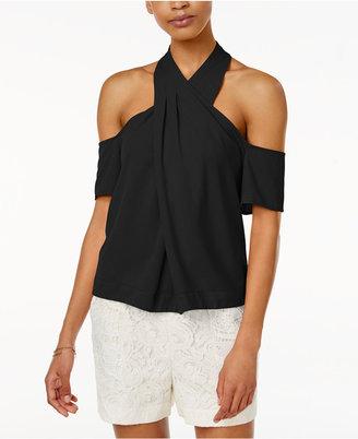 RACHEL Rachel Roy Cold-Shoulder Halter Top, Only at Macy's $89 thestylecure.com