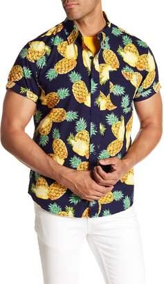 MODERN LIBERATION Short Sleeve Pineapple Print Regular Fit Shirt