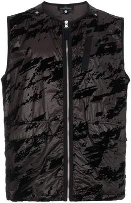 Stone Island Shadow Project Black camouflage gilet