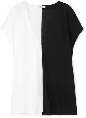 Vaara Lara Two-tone Cotton-jersey Top - Ivory