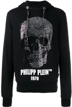 Philipp Plein wavy skull hoodie