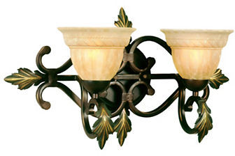 AF Lighting Af Lighting Provencal Two Light Vanity- Golden Glow Glass Sconce