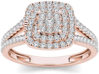 MODERN BRIDE 1/2 CT. T.W. Diamond 10K Rose Gold Engagement Ring