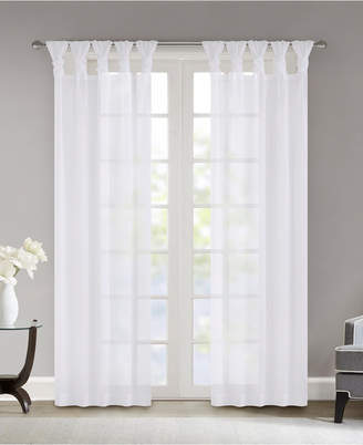 "Madison Park Ceres 50"" x 95"" Twisted Tab Top Voile Sheer Window Pair"