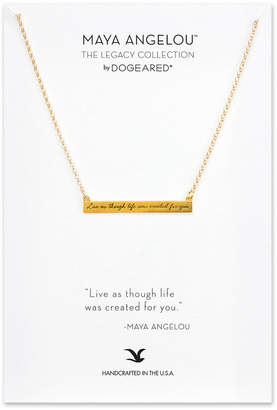 Dogeared Maya Angelou Collection 14K Over Silver Necklace
