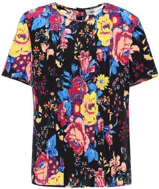 Diane von Furstenberg Printed silk pleat top