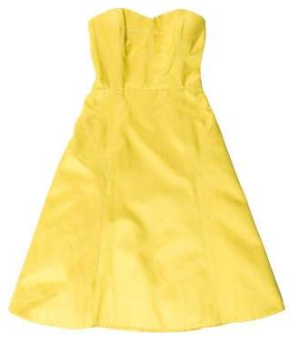 Jason Wu Anise Silk Strapless Dress
