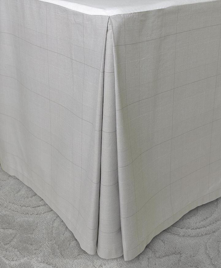 Brooks Brothers Glen Plaid King Bed Skirt