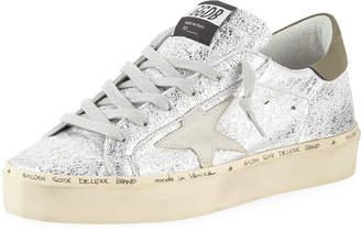 Golden Goose Hi Star Metallic Leather Platform Sneakers