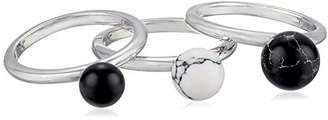 Noir Semi Precious Sphere Stackable Ring