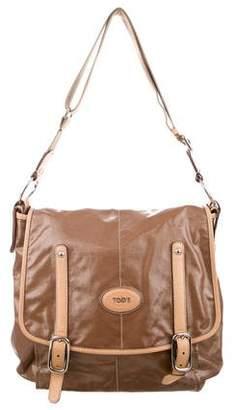 Tod's Coated Canvas Messenger Bag