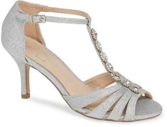 Paradox London Pink Sibel Crystal Embellished T-Strap Sandal