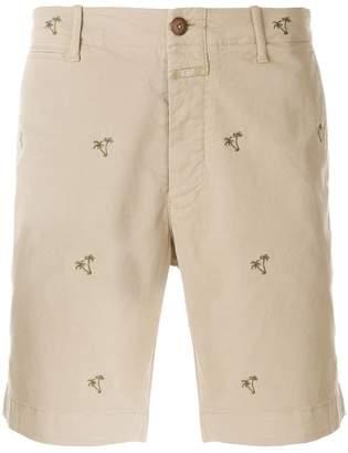 Closed palm tree shorts