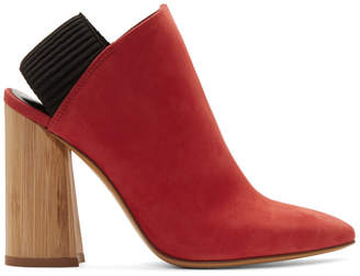 3.1 Phillip Lim Red Suede Drum Slingback Heels