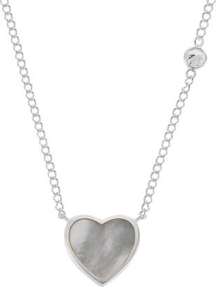 6b113f0e6f4db7 Revere Sterling Silver Mother of Pearl Heart Necklet