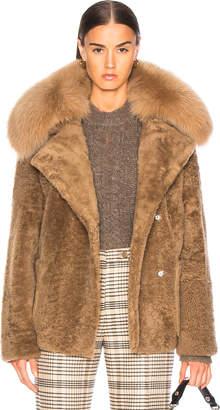 Yves Salomon Curly Merinillo Fur Jacket