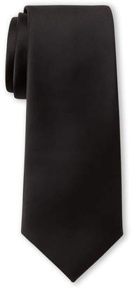 Pierre Cardin Black Satin Slim Tie