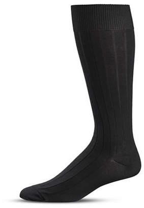 Black Brown 1826 Knit Stripe Crew Socks