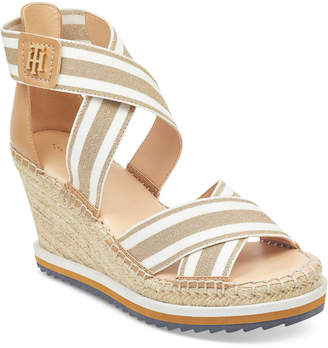 Tommy Hilfiger Yesia Espadrille Platform Wedge Sandals, Created for Macy's Women's Shoes