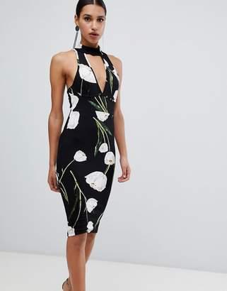 AX Paris choker floral midi dress