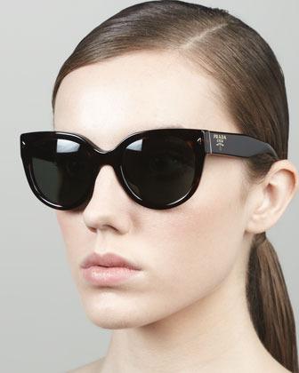 Prada Heritage Cat-Eye Sunglasses, Tortoise