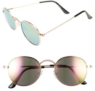 Women's A.j. Morgan Deliverance 50Mm Sunglasses - Gold/ Pink Mirror $24 thestylecure.com