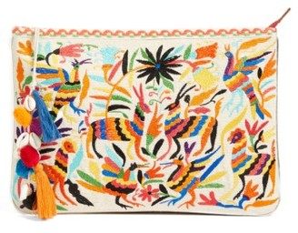 Steven By Steve Madden Embroidered Animal Clutch - Black $75 thestylecure.com