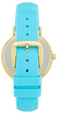 Kate Spade Ladies' Tropic Blue Silicone Metro Watch