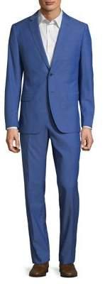Black & Brown Black Brown Wool Two-Piece Suit