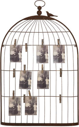 Metal Birdcage-Shaped Card and Photo Holder