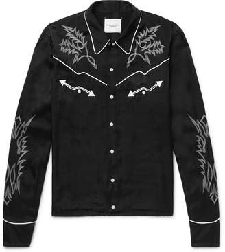 TAKAHIROMIYASHITA TheSoloist. - Slim-Fit Embroidered Satin Western Shirt