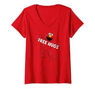 Sesame Street Womens Elmo Free Hugs V-Neck T-Shirt