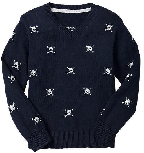 Gap Intarsia skull sweater