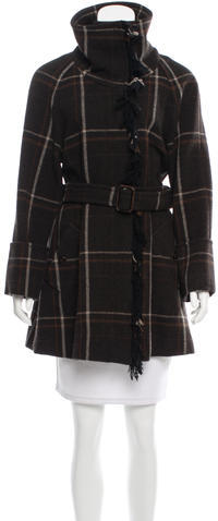 Max Mara MaxMara Weekend Plaid Wool Coat