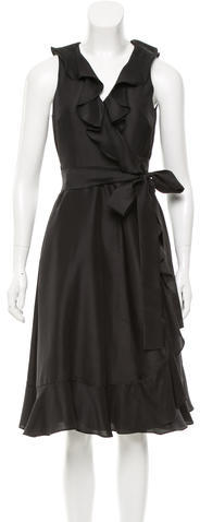 Kate Spade Kate Spade New York Silk Ruffle-Accented Dress