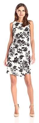 Lark & Ro Women's Sleeveless Asymmetrical Dress
