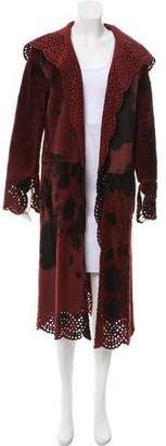 Oscar de la Renta Reversible Calf Hair Coat